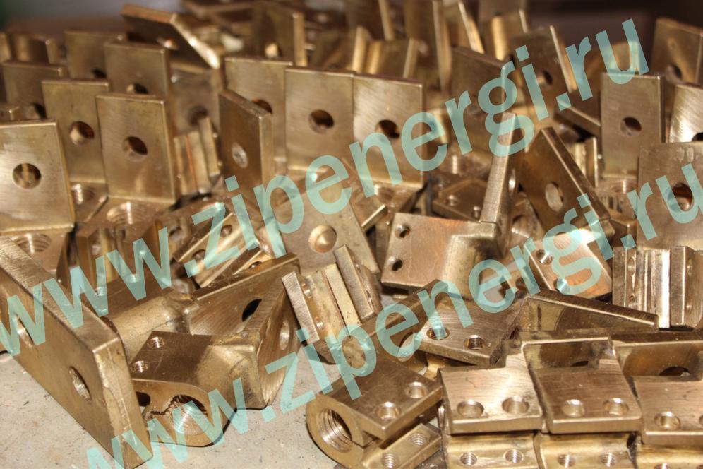 Зажим контактный НН М12 для ТМ(Г)-25-160 кВА из латуни ЛС-59