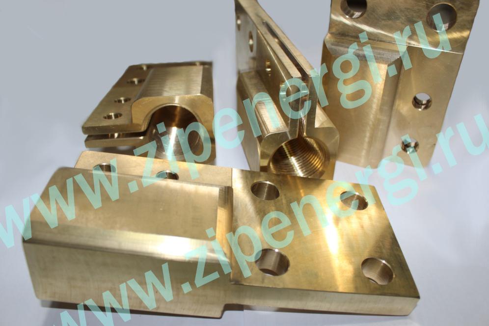 Зажим контактный НН М42 для ТМ(Г)-1250-1600 кВА из латуни ЛС-59