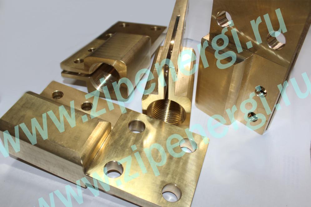 Зажим контактный НН М42 для ТМ(Г) 1250-1600 кВА из латуни ЛС-59
